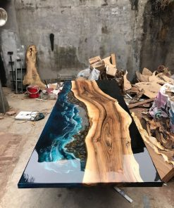 GIANT Coffee Table Epoxy River -4 - Woodify