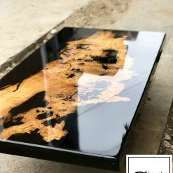 Black Epoxy River Coffee Table Woodify