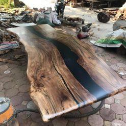 Black Epoxy River Walnut Table