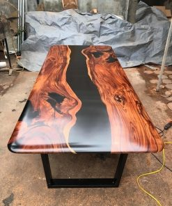 Black River Live Edge Table in Walnut - Woodify