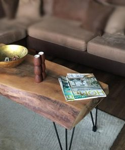 Natural Live Edge Walnut Coffee Table