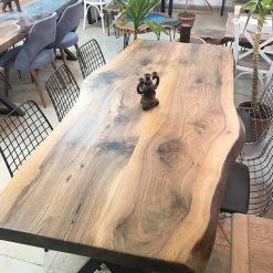 Solid Black Walnut Dinning Table - Woodify