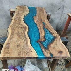 Live edge Acacia Wood Resin Coffee Table Top - Woodify