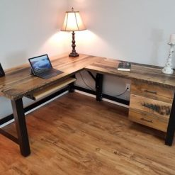 Reclaimed Wood Office Desk, Barnwood Computer Desk, Rustic Desk - Woodify