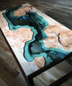Big Leaf Epoxy Custom Coffee Table