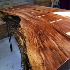 Live Edge Arbutus Office Desk - 1 - Woodify