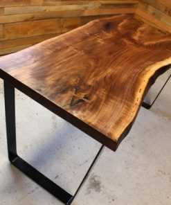 Live Edge Black Walnut Desk - 1 - Woodify