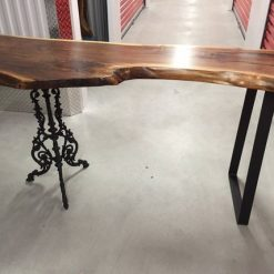 Live Edge Sofa Table Solid Black Walnut - 1 - Woodify