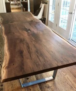 Live Edge Walnut Dining Table - 1 - Woodify