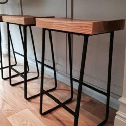 Metal & Wood Bar Stools - 1 - Woodify
