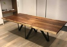 Modern Live Edge Walnut Dining Table - 1 - Woodify