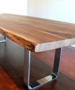 Salvaged Live Edge Harvest Table Black Walnut - 1 - Woodify
