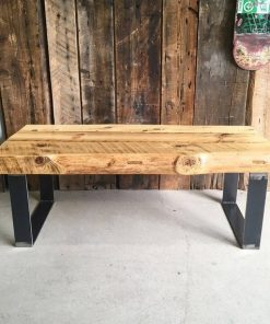 Thick Reclaimed Wood Coffee Table - 1 - Woodify