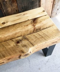 Thick Reclaimed Wood Coffee Table - 2 - Woodify