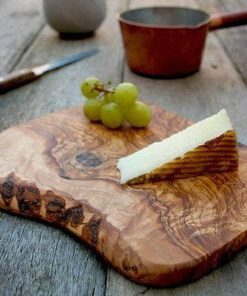 Cheese Board 100% Natural Olive Wood Hand made Food Safe - Woodify