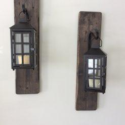 Decorative, rustic, reclaimed wood hanging lanterns - Woodify