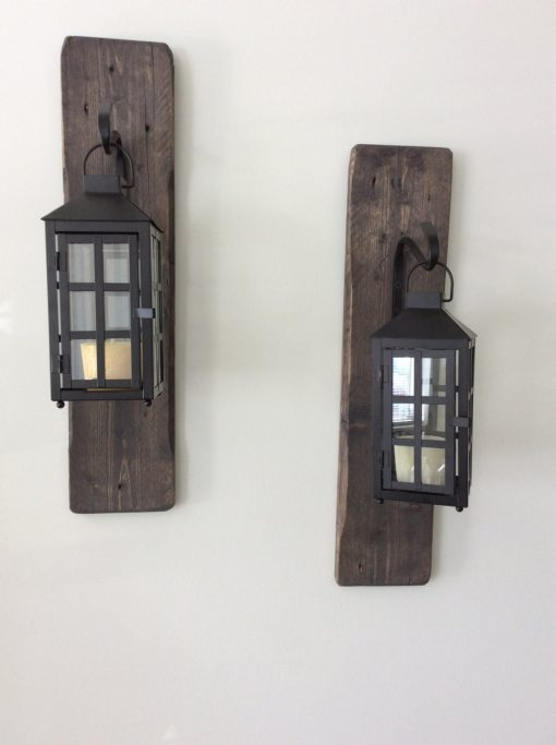 Decorative, rustic, reclaimed wood hanging lanterns - Woodify