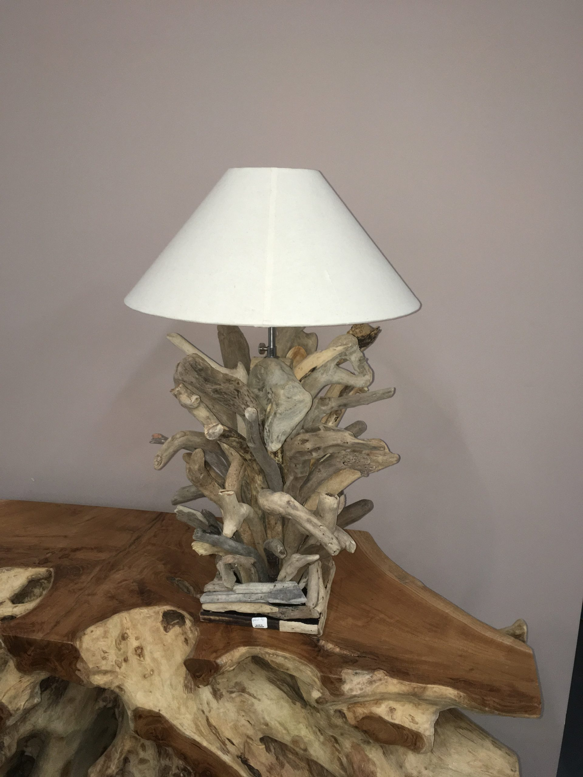 Driftwood Branch Table Lamp Accent Lighting Woodify Canada