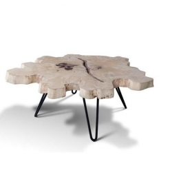 Extra Large (115cm) Live Edge Slab Coffee Table - 1 - Woodify