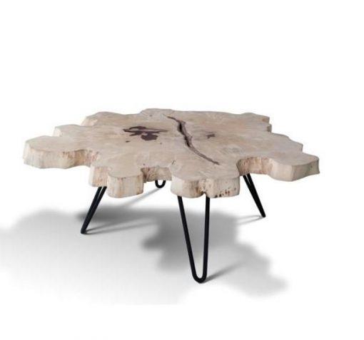 Extra Large (115cm) Live Edge Slab Coffee Table - 1 - Woodify