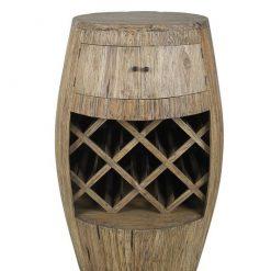 Giant Teak Wine Barrel Rack - 1 - Woodify