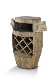 Giant Teak Wine Barrel Rack - Woodify