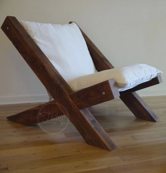 Reclaimed Flooring California: Reclaimed Wood Lounge Chair