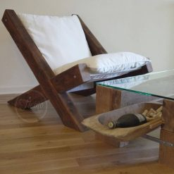 Reclaimed Wood Lounge Chair - 2 - Woodify