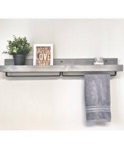 Rustic Wooden Light Walnut Shelf - 1 - Woodify