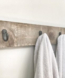 Rustic Wooden Walnut Towel Rack - Woodify