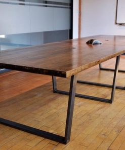 Straight Edge Wooden Boardroom Table - 1 - Woodify
