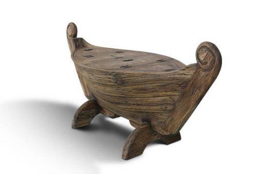 Teak Wooden Bench Boat-shaped 3 storage - 1 - Woodify