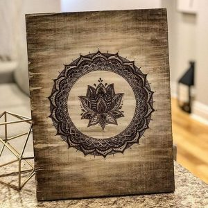 Pyrography wood art - Woodify