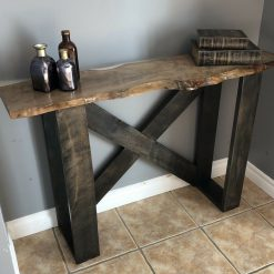 handmade hardwood accent table - 1 - Woodify