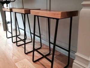 3 reviews for Metal & Wood Bar Stools - Woodify