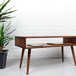 Mid Century Modern Retro Coffee Table Mid Century Table on Solid Oak Legs - Woodify Canada