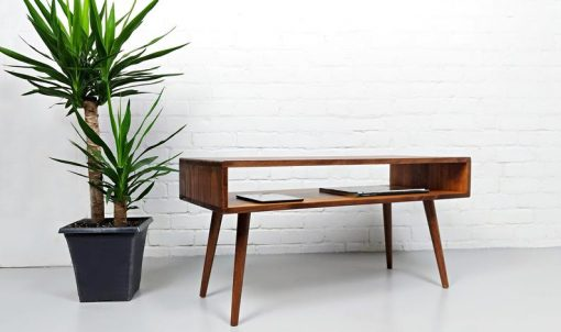 Mid Century Modern Retro Coffee Table Mid Century Table on Solid Oak Legs - Woodify Canada