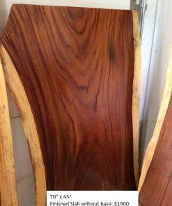 Finished Wood Slab No Base - Woodify canada
