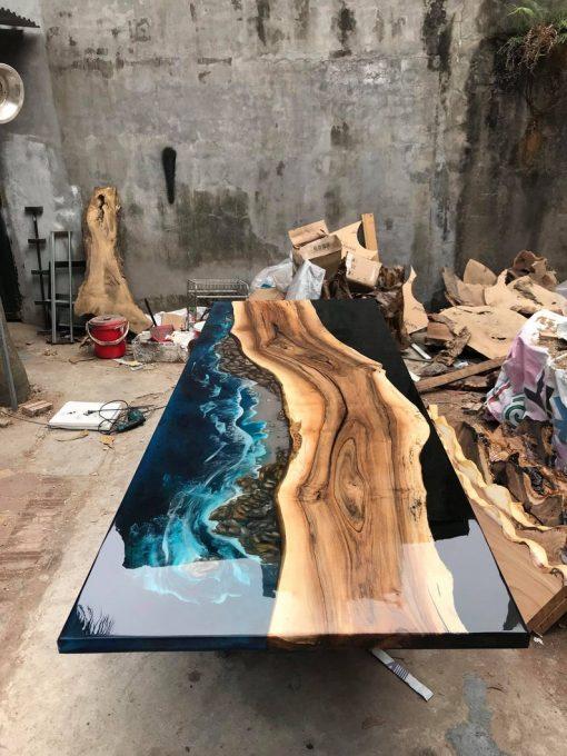 GIANT Coffee Table Epoxy River -4 - Woodify