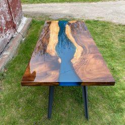 Live Edge Acacia Slab River Dining Table