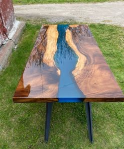 Live Edge Acacia Slab River Dining Table