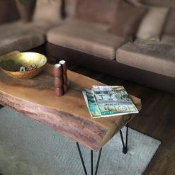 Natural Live Edge Walnut Coffee Table