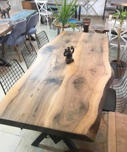 Solid Black Walnut Dinning Table - Woodify