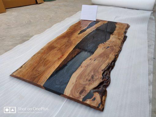 Acacia Black Epoxy Resin Table Top - Woodify 5