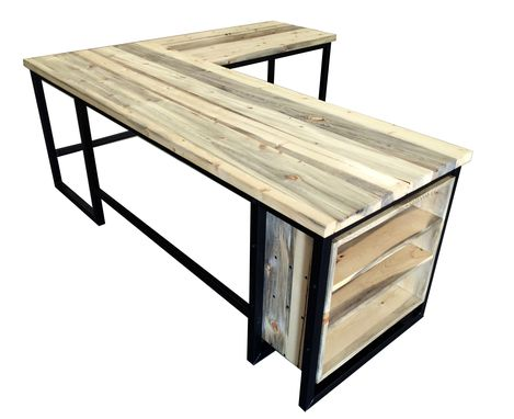 Beetle Kill Pine L-Shaped - Woodify Desk - Woodify