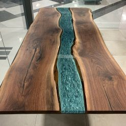 Epoxy River Live Edge Dining Tables - Woodify 1