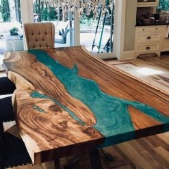 Green Epoxy Resin Live Edge - Woodify