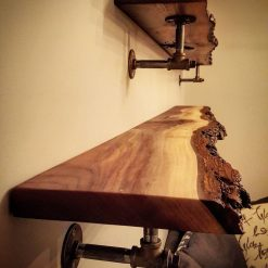 Black Walnut Live Edge Shelving Woodify