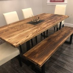 Ash Dining Table and Bench - Woodify