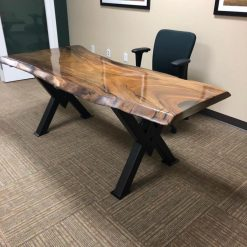 Live Edge Suar Office Desk - Woodify Canada